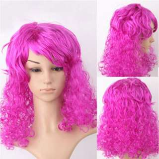 New Ladies Long Fashion Full Fluffy Curly Wavy Hair Wig Colorful Wigs