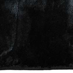 Black Faux Fur Rug (7 x 10)