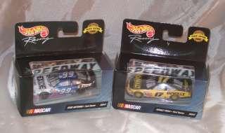 HOT WHEELS RACING 164 ~ 2 ~ NASCAR CARS #17 DEWALT & #99 EXIDE ~ 1999