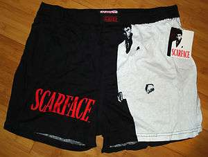 Scarface Mens Boxer Shorts 100% Cotton Black & White M & XL New With