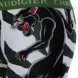 Christian Audigier Mens Zebra Print Boxer Shorts