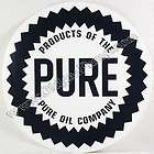 PURE OIL COMPANY GASOLINE 12 VINYL GAS & OIL PUMP DECAL DC 122