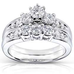 14k Gold 1ct TDW Round Diamond Wedding Ring Set (H I, I1 I2