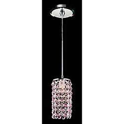 Pink Crystal Mirror Canopy Mini Pendant Chandelier