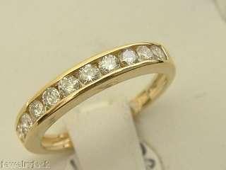 14 KT SOLID YELLOW GOLD LADIES 0.50 CARAT DIAMOND WEDDING BAND