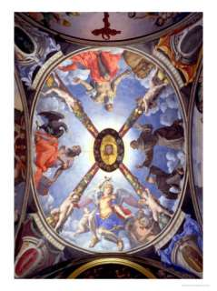 The Ceiling of the Chapel of Eleonora of Toledo Depicting St. Michael