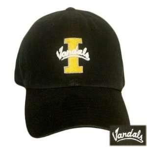 WASH COTTON CAP HAT IDAHO VANDALS BLACK SMALL