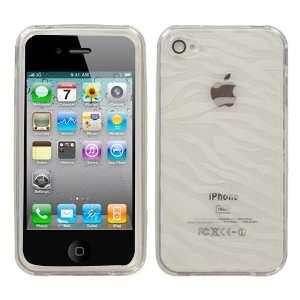 Apple iPhone 4 , T Clear Zebra Skin Candy Skin Cover