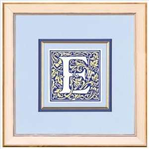 : Phoenix Galleries HPE373 Blue Letter E Framed Print: Home & Kitchen