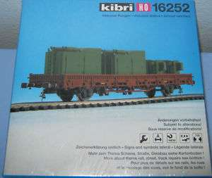 Kibri 16252 HO Scale Flat Wagon w/ Large machine parts