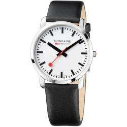 Mondaine Mens Simply Elegant Stainless Steel White Dial Watch
