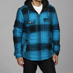 Burnside Mens Quilted Flannel Shirt Jacket