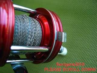 VERY NICE VINTAGE RED ABU GARCIA AMBASSADEUR 5000 FISHING REEL & case