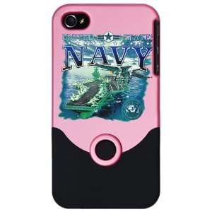 iPhone 4 or 4S Slider Case Pink United States Navy Aircraft Carrier