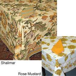 Cotton Floral Print Tablecloth (India)