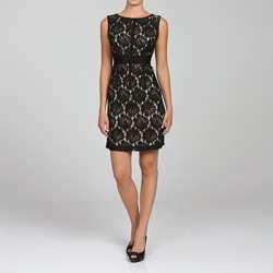 Jonathan Martin Womens Sleeveless Lace Dress