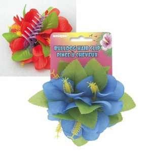 Blue Flower Bulldog Hair Clip Toys & Games