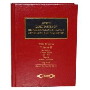 Recommended Insurance Attorneys and Adjusters (2 Volumes Set) Books