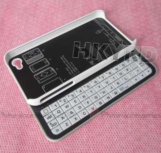 Hot Mini Bluetooth Sliding Keyboard&Hard Case For iPhone 4G 4S White