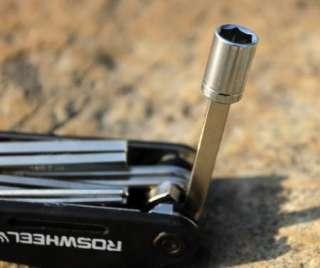 Cycling BIKE 16 in 1 Multi function bicycle tools repair kits Black