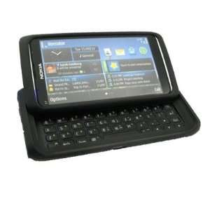 Palace  Black Silicone skin case cover pouch for Nokia E7 Electronics