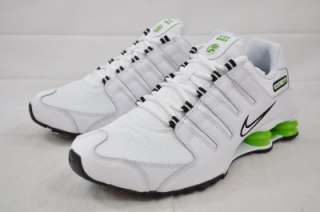 NIKE SHOX NZ 378341 126 WHITE BLACK LIME GREEN MENS RUNNING *RARE