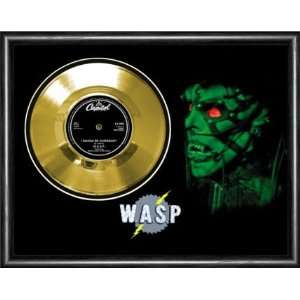 WASP I Wanna Be Somebody Framed Gold Record A3 Musical