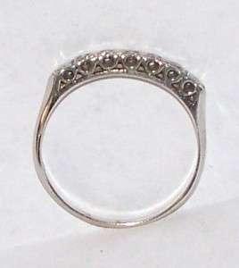 14K WHITE GOLD DIAMOND RING & CELLULOID HARLEQUIN RING BOX ART NOUVEAU