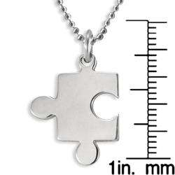 Stainless Steel Polished Puzzle Piece Necklace