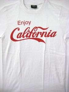 COCA COLA ENJOY CALIFORNIA WHITE MEN T SHIRT S XL COKE