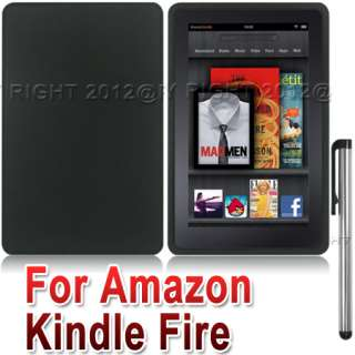 BLACK SILICONE PROTECTIVE CASE COVER+STYLUS FOR  KINDLE FIRE 7IN