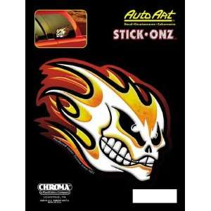 Chroma Graphics,Inc. 6212 Flaming Skull 6x8auto Art Vinyl