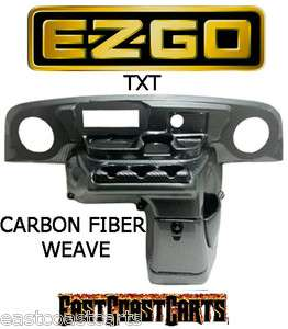 EZGO TXT Golf Cart Elite Radio Dash Cover CARBON FIBER WEAVE (FREE