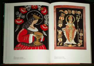 BOOK Folk Painting Poland antique folk art glass icon naive clay tile
