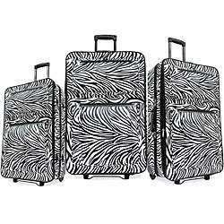 Zebra print 3 piece Luggage Set
