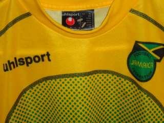 UHLSPORT JAMAICA FOOTBALL RASTA JERSEY SHIRT HIGH MENS L