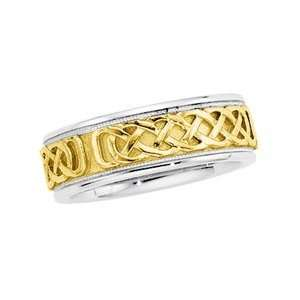 Size 05 1/2 14K White/Yellow/White Gold Two Tone Bridal