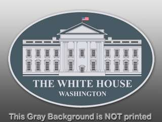 The White House Seal Oval Sticker  decal logo president
