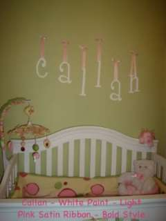 PAINTED PERSONALIZED WOODEN WALL LETTERS BABY NURSERY GIRLS BOY