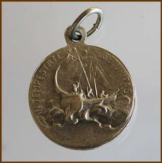 Catholic Silver Tone Medal Charm SANCTUS SAINT ST. GEORGE Safety in