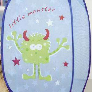 LITTLE MONSTERS Blue Pop up Toy Storage LAUNDRY HAMPER