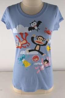 Paul Frank Blue Falling Friends Tee Shirt Junior 2856