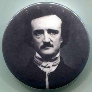 Edgar Allan Poe goth horror pin badge pinback new