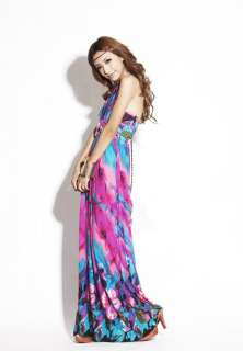 Beach Sundress Long Maxi Low Cut Deep V Neck Full Length Dress