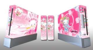 Hello Kitty Decal Sticker Skin For Wii Case Cover GIFT And 2 Remotes