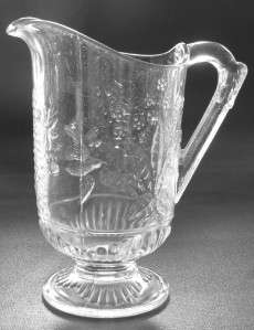 EAPG Cooperative Flint Glass Water Pitcher Hummingbird