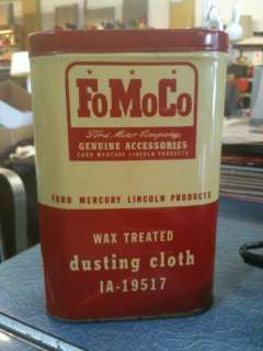 Vintage FoMoCo Ford Motor Company Dusting Cloth in Tin