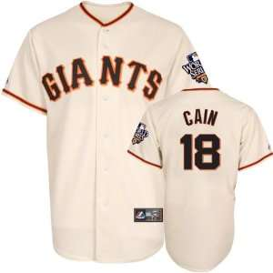 Matt Cain Jersey San Francisco Giants #18 Home Replica