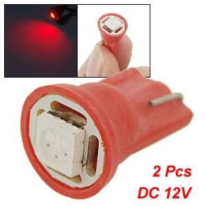 Amico 2 Pcs T10 W5W Red Lamp 5050 SMD LED Turn Signal Light 12V for