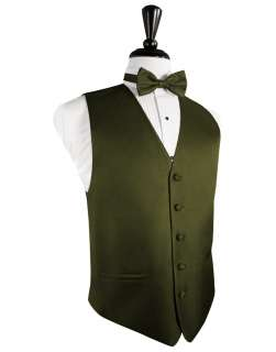 Fern/Olive green Herringbone Tuxedo Vest/longtie NWT ALL SIZES